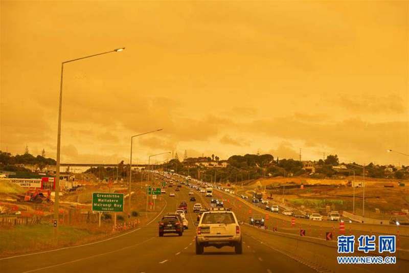 澳大利亚大火烟尘笼罩新西兰奥克兰
