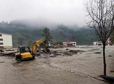 四川汶川多地发生山洪泥石流灾害