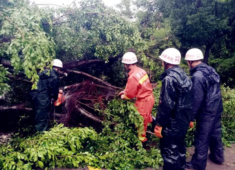 """台风""""米克拉""""来袭 福建消防救援在行动"""