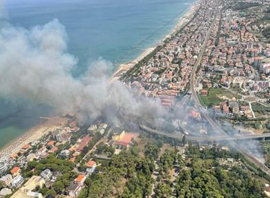 意大利多地发生林火灾害